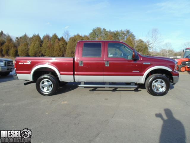 diesel truck list for sale 2005 ford f250 lariat fx4 crew cab 4x4 short bed diesel. Black Bedroom Furniture Sets. Home Design Ideas