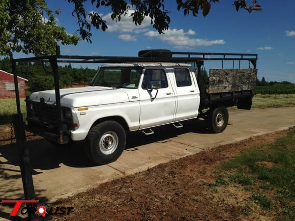 torquelist for sale 1979 ford f250 crew cab with contractors rack. Black Bedroom Furniture Sets. Home Design Ideas