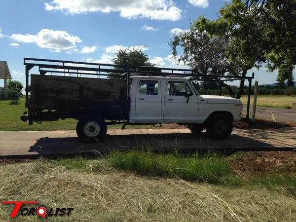 TORQUELIST - For Sale: 1979 Ford F250 crew cab with Contractors rack